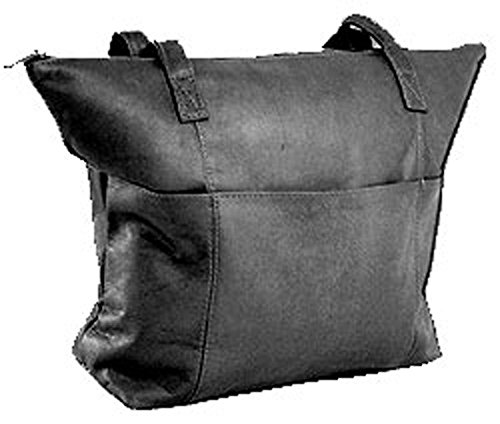 David King & Co. Top Zip Shopping Tote 543, Black, One - Handbag Top David Zip King