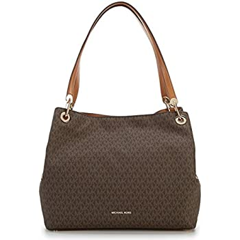 fe889609a06 Amazon.com  Michael Kors Raven Large Leather Shoulder Bag - Acorn  Shoes