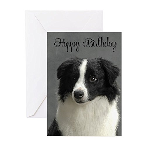 CafePress Border Collie Birthday Card Greeting Card, Note Card, Birthday Card, Blank Inside Matte ()