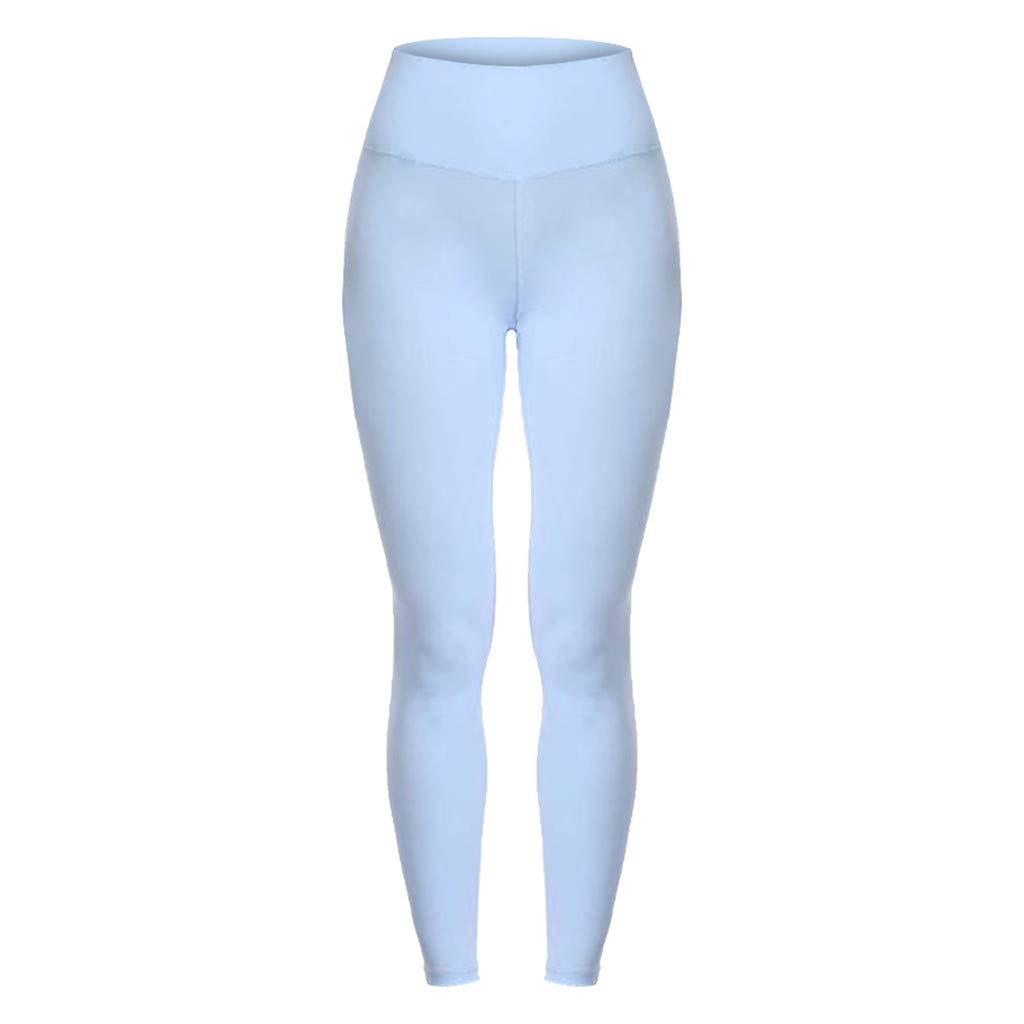 Barthylomo Womens High Waist and Tight Fitness Yoga Pants Nude Hidden Pocket Yoga Pants