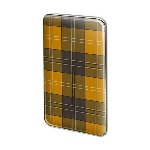 GRAPHICS & MORE Plaid Mustard Yellow Gray Grey Pattern Rectangle Lapel Hat Pin Tie Tack Pinback