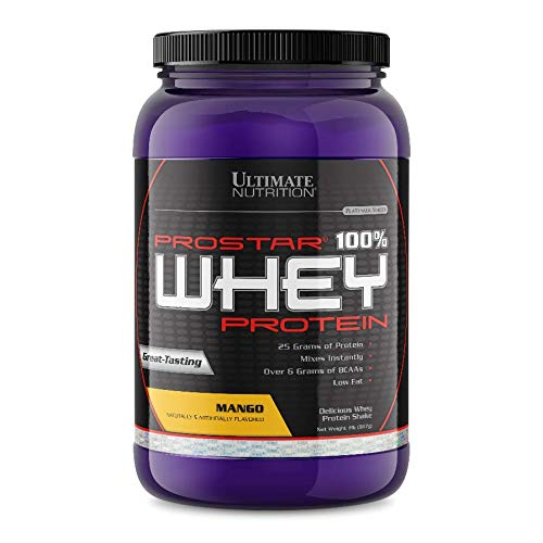 Ultimate Nutrition Prostar 100% Whey Protein Powder - 25g of Protein, Mango, 2 Pounds