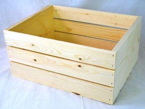 Amazon.com: Wooden crate 16x12.25x9.25 high.: Home & Kitchen