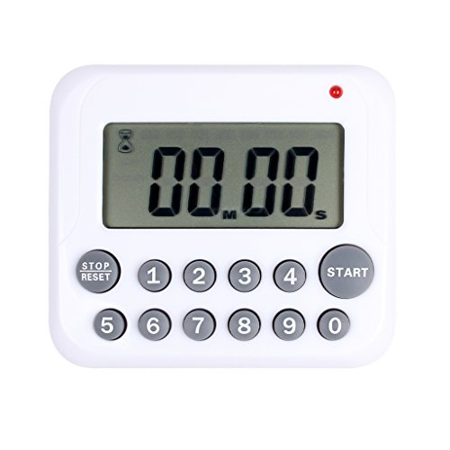 Ewinever 1PCS Digital Kitchen Timer Countdown Cooking Timer with Magnet Back and Clip Loud Alarm Big Digits Readout Quickly for Games Classrooms Sports Exercise ()
