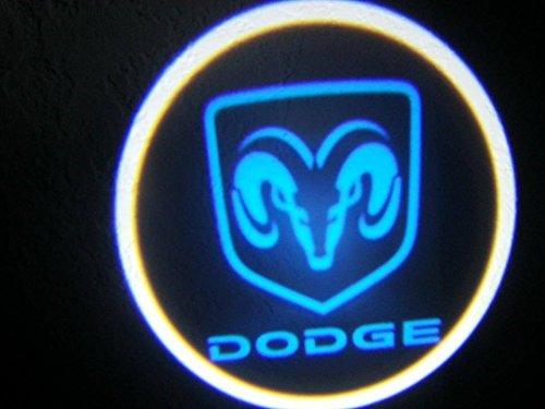 WIRELESS Dodge ram BLUE Ghost Door Logo Projector Shadow Puddle Laser Led Lights x2 LED1