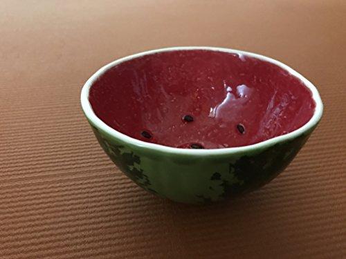"""Bordallo Pinheiro Watermelon Bowl, 5.3"""", Set of 4"""
