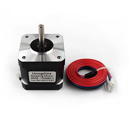 3 Laser Printer (40mm 17HS4401 High Torque Bipolar Stepper Motor Nema 17, 0.46Nm Low Noise 42 DC Step Motor Kit, 1.8°2-Phrase Universal Electric Motor DC motor for 3D Printer Laser Engraving)