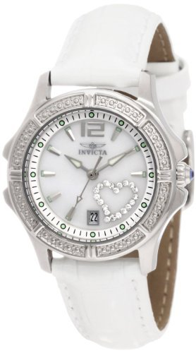 Womens Interchangeable Leather Strap - Invicta Women's 1029 Mother-Of-Pearl Dial with Interchangeable Leather Straps Watch