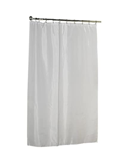 American Crafts Extra Long 96quot Polyester Fabric Shower Curtain Liner White