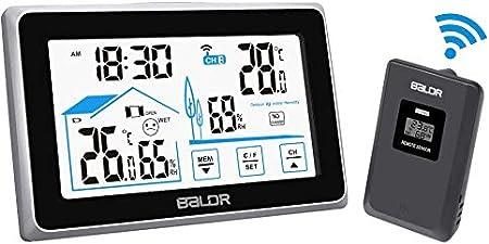 Sans fil station météo prévisions thermomètre sonde d/'humidité intérieur//extérieur