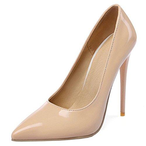 Hauts TAOFFEN Aiguille Soiree Pointue Mode Mariage Talons Femmes Bout Escarpins Sm Chaussures Abricot YrZnO1Y