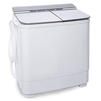 ivation small compact portable washing machine twin tub washer spin with 8 lb. Black Bedroom Furniture Sets. Home Design Ideas