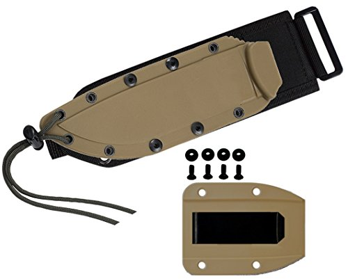 ESEE -4 Coyote Brown Molded Sheath, Clip Plate & Molle Back
