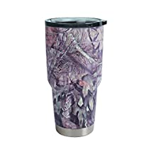Mossy Oak 30 oz Stainless Steel Vacuum Tumbler Insulated Cups, Coffee Travel Mug, Camo