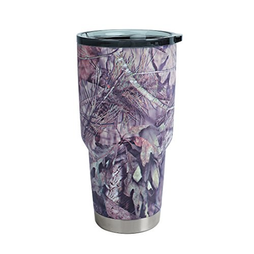 MOSSY OAK Stainless Steel Camo Tumbler - 30 Oz Double Wall Vacuum Insulated Coffee Cup - Travel Mug for Cold & Hot Drinks]()