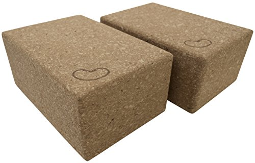 "Cork Yoga Blocks 4"" x 6"" x 9"", 3"" x 6"" x 9"" Single or 2 block saver pack by Bean Products"