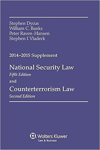 Counterterrorism Law Aspen Casebook Series