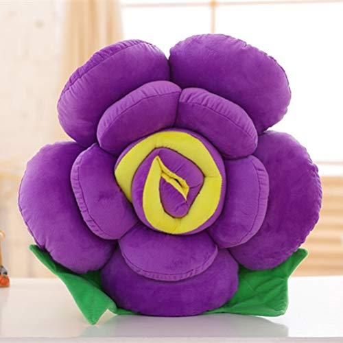 YJBear PP Cotton Insert Colorful Flower Stuffed Pillow with Invisible Zipper Detachable Microfiber Seat Back Cushion Sofa/Bed/Home Decoration Purple 11.8