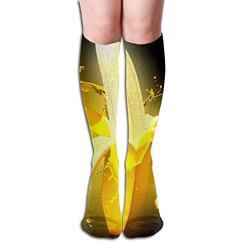 MC WUAHW Womens Beneath Knee Long Tube Socks Juicy Banana Crazy Stockings For (Juicy Knee Socks)
