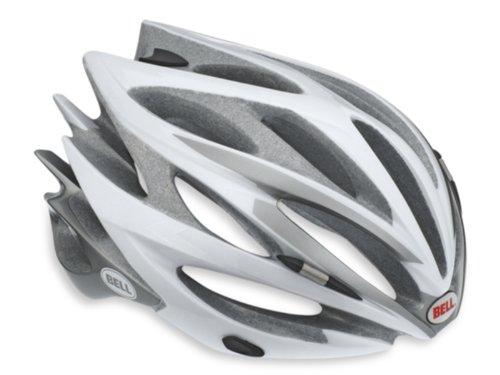 Bell Sweep Racing Bicycle Helmet, White/Silver, - Sweep Bell Race