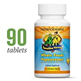 Sunshine Heroes Whole Foods Papayazyme, 90 Chewable Tablets | Supports Digestive Health, Aids Intestinal Function and Strengthens Immune Response for Children