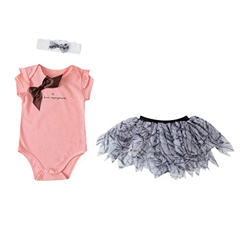 NUWFOR Baby Girl Tutu Dress Newborn Letter Romper+Tutu