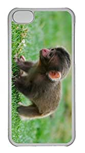 Customized iphone 5C PC Transparent Case - Baby Monkey Cover