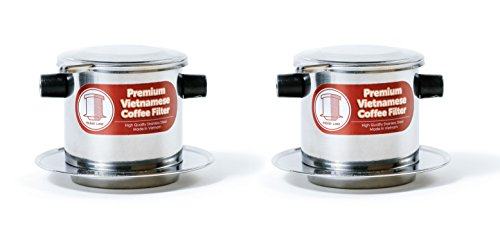 Vietnamese Coffee Filter Infuser Filter, Perfect for Camping or Travel, Iced or Hot, Small, 2 Pack