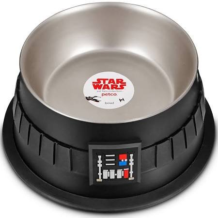 Petco Darth Vader Stainless Steel Dog Bowl, 3.5 Cups, Small ()