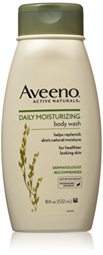 Aveeno Active Naturals Daily Moisturizing Body Wash with Natural Oatmeal, 18-Ounce Bottles (Pack of 3)