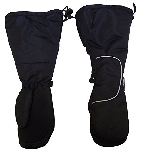 Cuff Snow (N'Ice Caps Kids Thinsulate Waterproof Velcro Wrap Elbow Length Cuff Mittens (4-6yrs,)