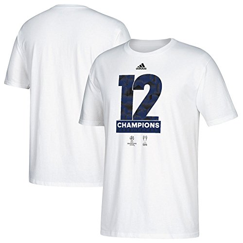 League Champions T-shirt (Real Madrid adidas 2017 UEFA Champions League Champs White T-shirt Large)