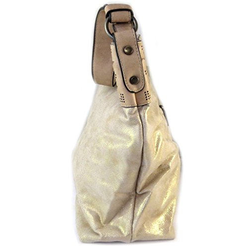 Bag designer Scarlettbeige dorato lustrini - 43x32x13 cm.