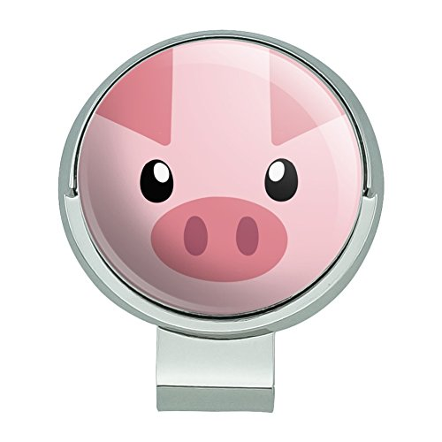 Graphics and More Pig Face Farm Animal Golf Hat Clip With Magnetic Ball (Animal Golf Ball Marker)