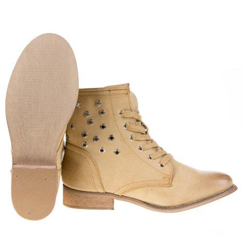 Ital-Design - Botas Antideslizantes de material sintético mujer marrón - marrón claro