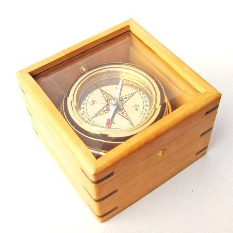 手作りGimbaled真鍮コンパスin木製ボックスNAUTICALMART B071HNDCWL