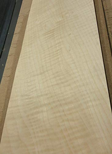 "Maple Sycamore Curly Figure Tiger wood veneer 6"" x 22"" raw no backer 1/42"" thick"