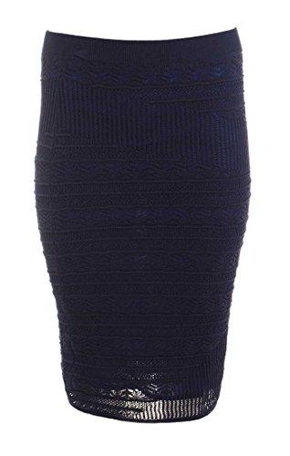Rachel Rachel Roy Womens Lace Lined Pencil Skirt Navy M (Rachel Roy Clothing compare prices)