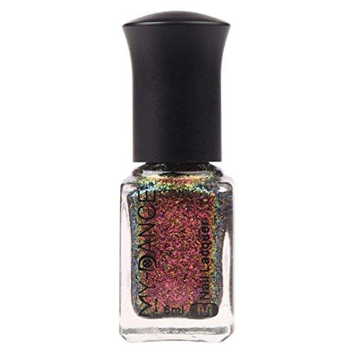 (Nail Enamel ,Vanvler Glitter Chameleon Effect Nail Powder No Polish Foil Nails Art Nail Polish (H))