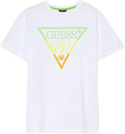Guess J - Camiseta para niño, modelo N02I22K5M20 Blanco 24 M: Amazon.es: Ropa y accesorios