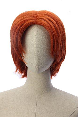 Short Orange Straight Cosplay Anime Wigs Costume Daily