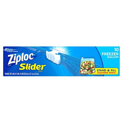 Ziploc Slider Freezer Bags, Gallon, 10 ct