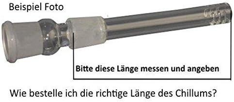 budawi® - Adapter Chillum mit Diffuser ca. 10,5-11cm Diffuserkupplung 18,8er shillum