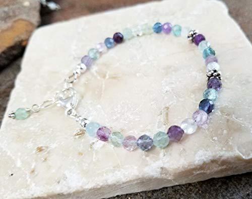 Rainbow Fluorite Bali Sterling Silver Bracelet ()