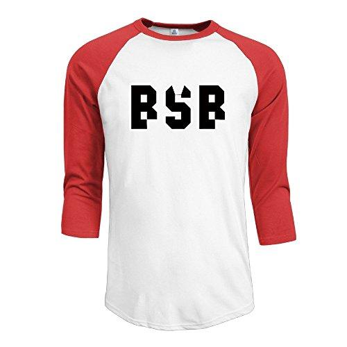 Backstreet Bsb Logo Men's Contrast Raglan Baseball T -