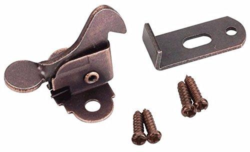 (Elbow Latch Cabinet Door- Window Catch Dark Brushed Antique Copper with screws)
