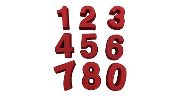 0-9 números de cumpleaños digital molde para chupete molde de ...