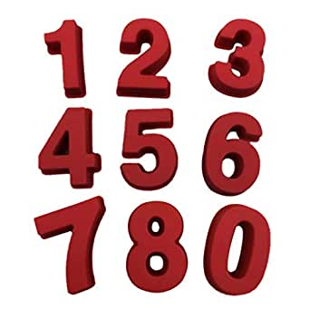 0-9 números de cumpleaños digital molde para chupete molde ...