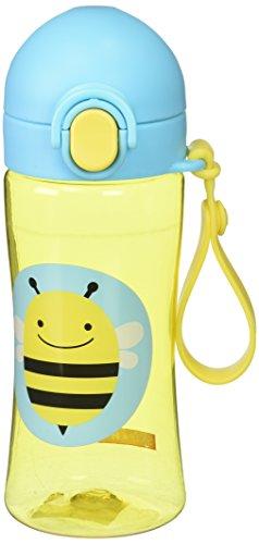 Skip Hop Zoo Lock-Top Sports Bottle, Bee, Yellow