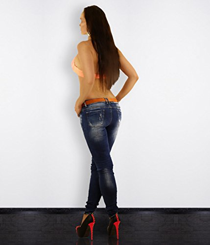 Mujer Vaqueros Azul Chic Para Skinny Simply xqFwOvnYw